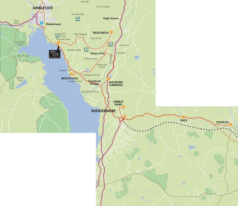 Windermere Cycling Map